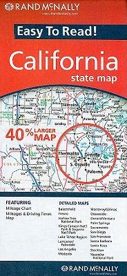 Rand McNally Easy to Read! California State Map By Rand McNally and Company (COR)